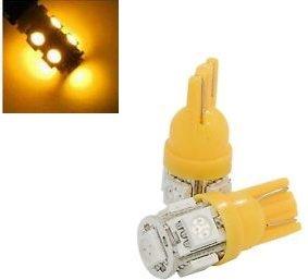 T10 W5W 24Volt led 5x 5050 SMD LED geel/amber