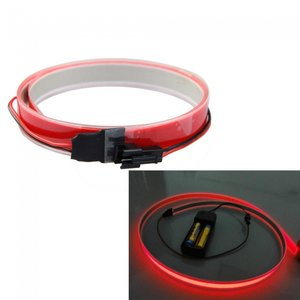 12V Neon EL-strip rood