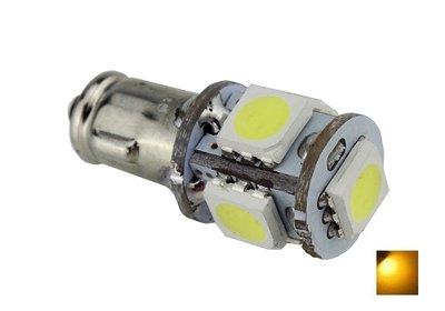 BA7S 5X 5050SMD LED Geel/Amber 6V