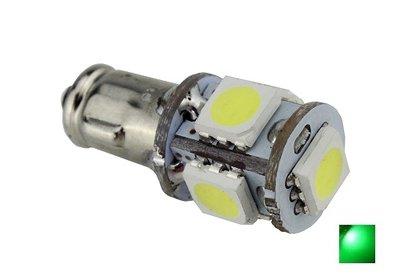 BA7S 5X 5050SMD LED groen 6V