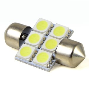C5W Festoon 6x 5050SMD LED 31MM wit