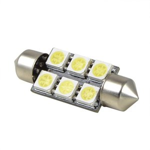 C5W Festoon 6x 5050SMD LED 36MM wit