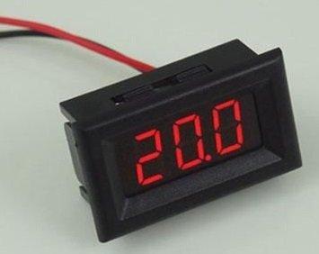12V Mini Voltmeter Rood (2.5V DC-30V DC)