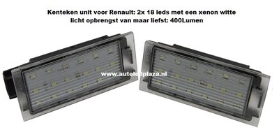 Renault LED kenteken units 400Lumen!