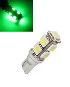 24V T10 W5W led 9x 5050 SMD LED Groen