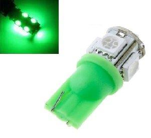 6V T10 W5W led 5x 5050 SMD LED groen