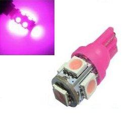 6V T10 W5W led 5x 5050 SMD LED Roze (pink)