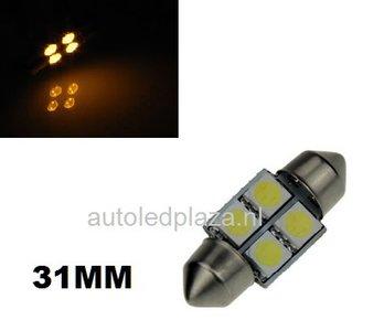 Festoon 4 smd 5050 LED 31mm Geel/Amber