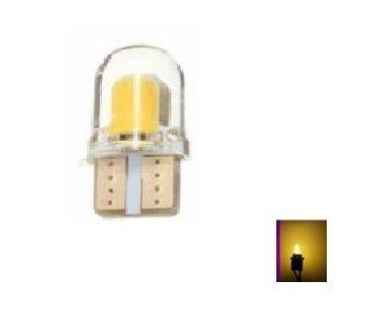 T10 W5W 2x 0,5W high power COB siliconen LED geel/amber