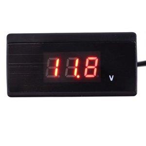 Voltmeter extern opbouw 4,5V~24V rood incl plug