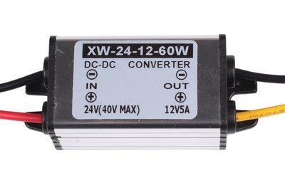 24V naar 12V omvormer 60W max