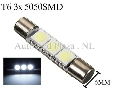 T6 28MM LED buislamp Wit