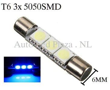 T6 31MM LED buislamp Blauw