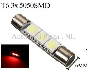 T6 31MM LED buislamp Rood