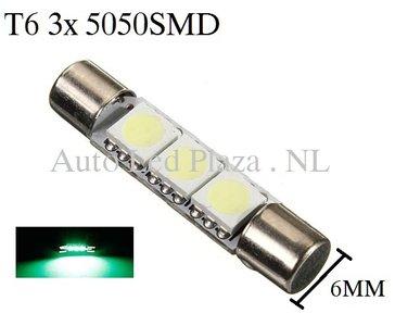 T6 31MM LED buislamp Groen