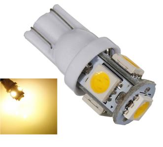 T10 W5W led 5x 5050 SMD LED Warm Wit