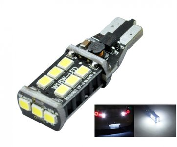 T15 W16W 15x 2830 SMD Samsung LED CanBus 9~30V AC (speciaal voor achteruit rijlicht)