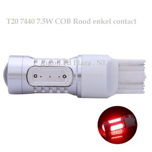 T20 7440 7,5W COB high power led Rood