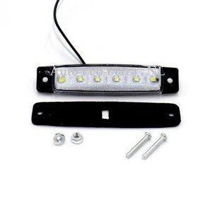 Wit zijmarkering 12V 6x LED unit