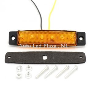 Oranje zijmarkering 12V 6x LED unit