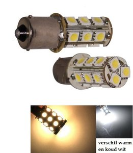 BAU15S (1156) 18x 5050SMD led WARM WIT