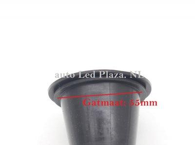 Universele koplamp stofkap t.b.v. led dimlicht 55MM 2 stuks