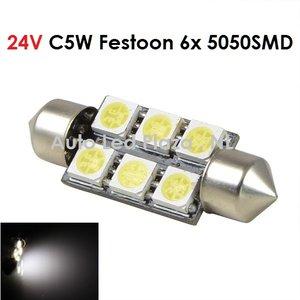 24V C5W Festoon 39MM 6x 5050SMD LED wit