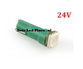 24V T5 1x 5050smd LED groen