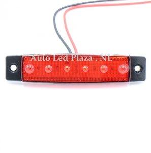 24V Rood zijmarkering 6x LED unit