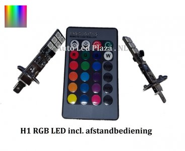 2x H1 12 leds RGB 5050SMD LED incl, remote controll