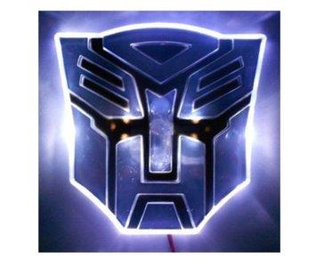 Transformers Optimus Prime LED badge wit