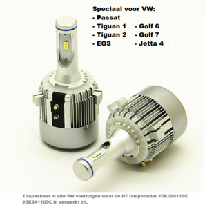 Plug and play High CSP Canbus LED dimlicht set voor o.a. volkwagen