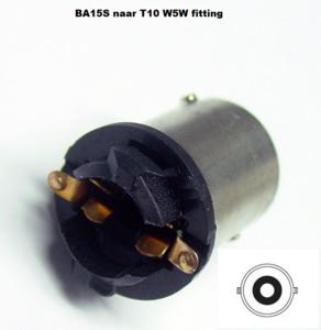 BA15S naar T10 W5W fitting